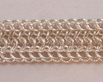 Chain Maille Sterling Silver Ridges Bracelet
