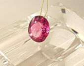 39.60 cts hot pink topaz oval facet drilled