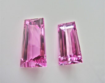 Pairs of pink topaz fancy cut 42.03 cts treatment from brazil