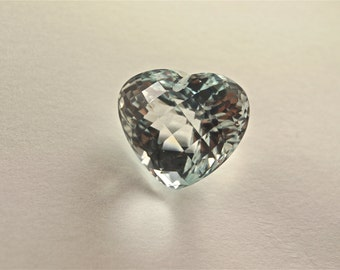 Natural unheated topaz heartshape with checker board cut drilled weight 43.62 carats