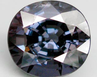 This stone is just beautiful stunning 5.44 ct natural unheated  oval facet silver blue spinel