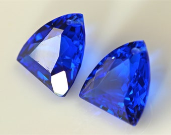 blue sapphire one pairs drilled 13x17mm