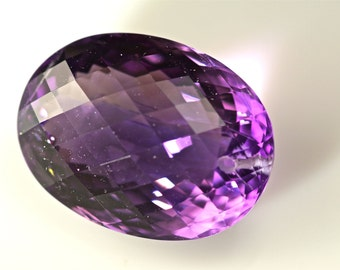 100 % natural unheat / untreat purple amethyst drilled 25.5 cts