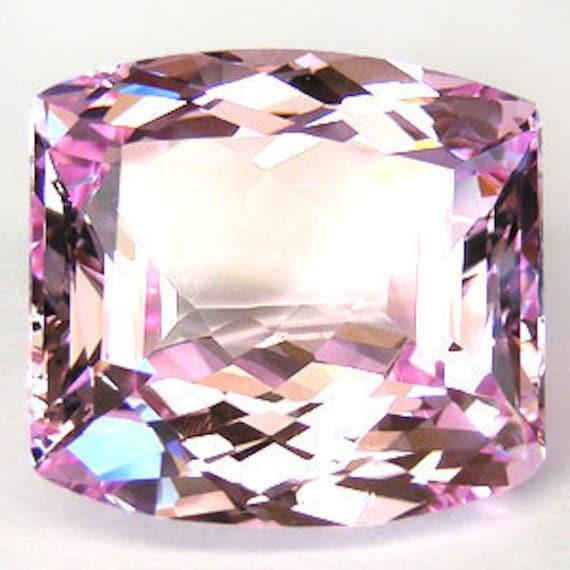 47.1 ct. light pink topaz drilled