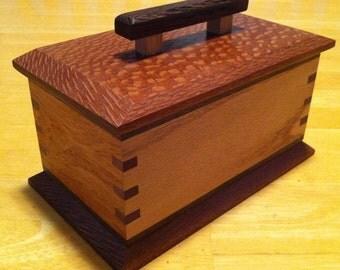 Exotic Woods Box made with Lacewood, Narra, Wenge, Purpleheart, Oak