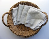 Natural Cloth Napkins, set of 4