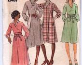 1970s Vintage Dress Pattern - Butterick 4375 - Misses Dress and Obi Sash size 12