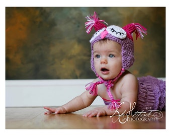 Crochet Owl hat (Made to Order)