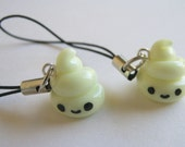 BFF Glow In the Dark Poop Cell Phone Charms