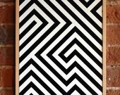3D OP Illusion - FRAMED - Acrylic on board - ORIGINAL - LIVnyc
