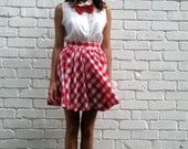 READY TO SHIP - The Melina Gingham Circle Skirt - Size M
