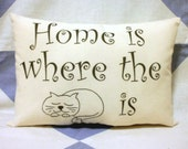 Cat Lovers Shabby Chic Vintage Retro Style Cushion Pillow