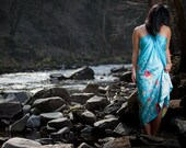Hand painted silk extra large shawl wrap, beachwear, beach wear, Koi fish handpainted sarong, island honeymoon gift, destination wedding