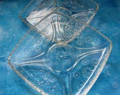 Pressed Glass Plates, Luncheon Or Salad, Set Of Two