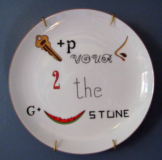 Taste Setter Plate Word Game  Keep Your Nose To The Grindstone