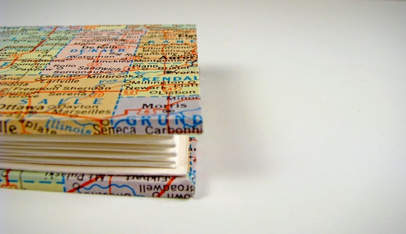 2.5 x 2.5 Miniature Travel Journal with Vintage Map