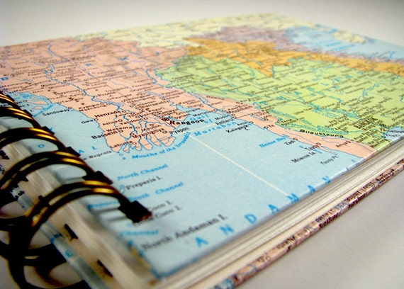 5x7 Custom Vintage Map Photo Album
