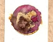 Blend Number 59 - Coffee & Tea - OOAK Watercolor Painting, Framed