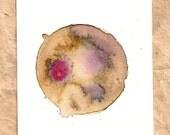 Blend Number 62 - Coffee, Wine & Tea - Original OOAK Watercolor Painting, Framed