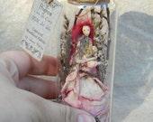 Queen Fairy of Spring - Captured Woodland Spirit - Nigrica Miniatures sculpt hand made by Johana Molina