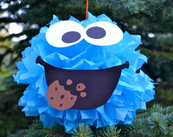 Cookie Monster Inspired Party Pom