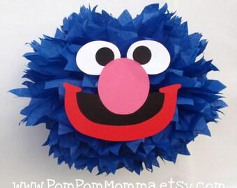 Grover Inspired Character Pom