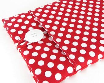 iPad Air 2 Case, iPad Air 2 Sleeve, iPad Case, iPad Sleeve, iPad 2 Case, iPad 2 Sleeve, iPad Air Case, iPad Air Sleeve - Red Polka Dots.