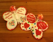 Butterfly Hearts Lollipop Personalized Valentine's Day Cards- Printable or Shipped