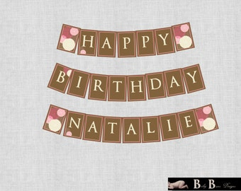 40 & Fabulous Flower Birthday Party Banner- Printable