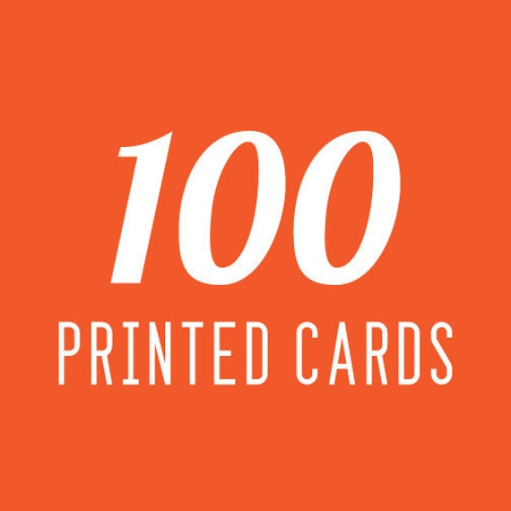 Template with 100 Printed Cards