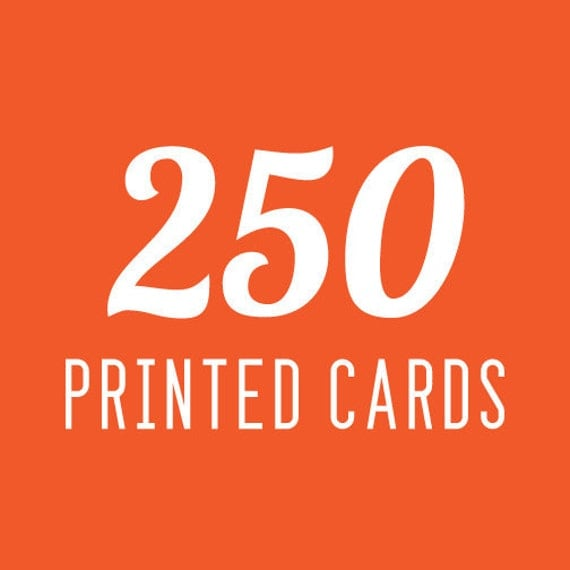 Template with 250 Printed Cards