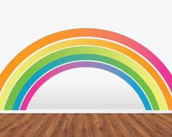 Rainbow Wall Decal  HUGE Removable Reusable Repositionable WallSkin.  Never Vinyl. Always Fabulous.