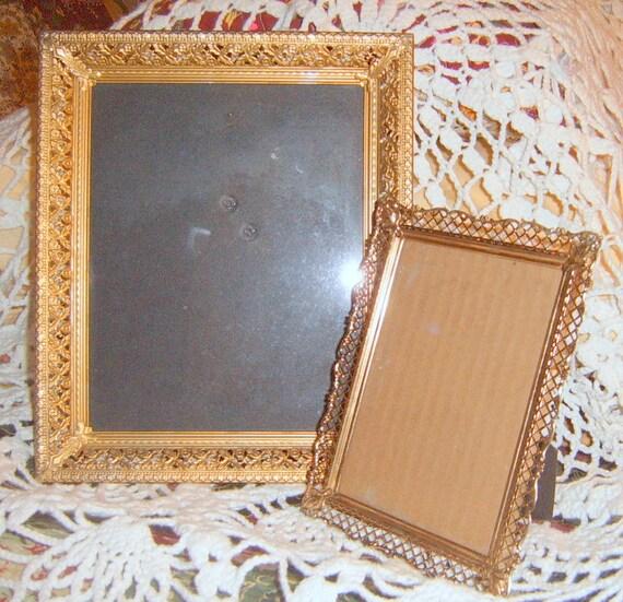 Reserved  For   Cathy   30% OFF  Vintage Filligree Picture Frames, Photo Frames, Metal Frames, Home Decor,