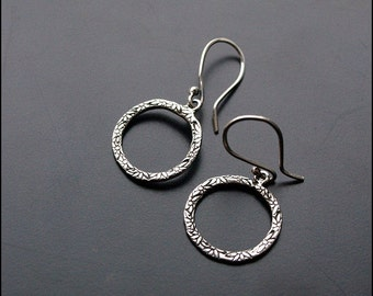 Flores - Sterling silver earrings