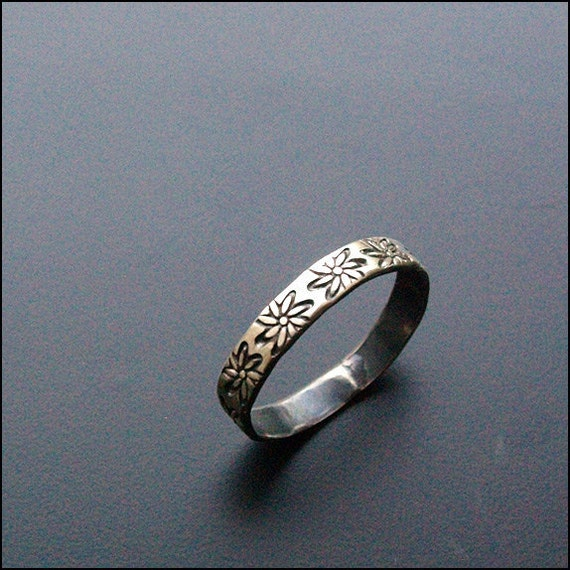 Flower Band - The Sterling Silver Ring