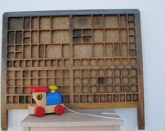 vintage letterpress printers drawer/tray - large