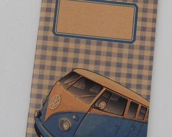 """original - limited edition - notebook - sketchbook - VINTAGE DESIGN (""""VW van"""")"""
