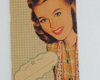"""original - limited edition - notebook - sketchbook - VINTAGE DESIGN (""""housewife"""")"""