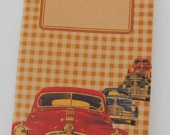 """original - limited edition - notebook - sketchbook - VINTAGE DESIGN (""""traffic"""")"""