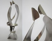 WEDDING GIFTS -   Love Talkin'- SCULPTURE- stainless steel metal- anniversaries too!