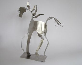 Con Brio  -  Horse -  Miniature Stainless Steel Sculpture
