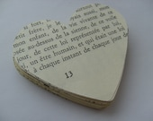 50, Large, Love hearts, Paper hearts,  vintage book, by DoodleDee2 on etsy