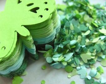 100,GREEN ,Paper butterflies, confetti, scrap booking, paper craft, card making, tags, pastel green, dark green, mint green, by DoodleDee2