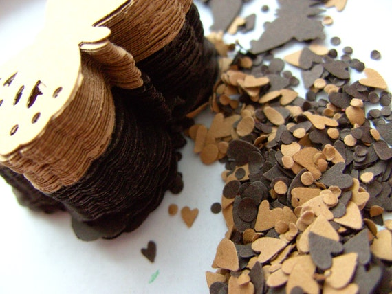 100, Chocolate Brown, Caramel,Paper, Butterflies, card making, scrapbooking, confetti, tags, by DoodleDee2 on etsy