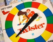 Original 1960's Twister Spinner . You Spin Me Right 'Round