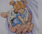 An Adorable Angel Finished Cross stitched Design