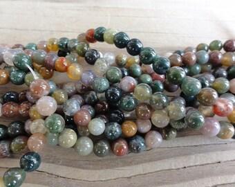 Fancy Jasper Beads - 6mm round - full strand