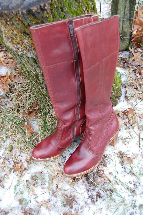 Dexter Tall Burgandy Boots