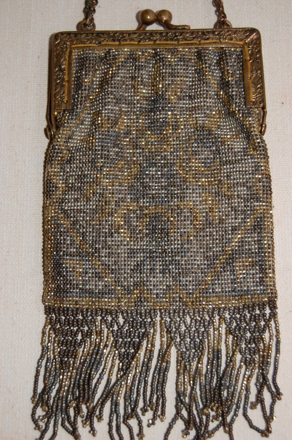 Beaded Bag Made in France - PERFECT CONDITION