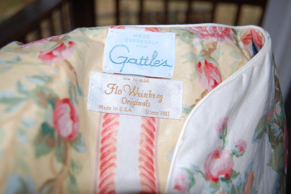 Vintage Floral Robe Housecoat by Flo Weinberg Originals for Gattle's Made in USA